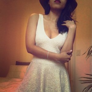 NEW Sparkly Ivory UO Dress